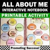 All About Me Activities Interactive Notebook Foldables Bac