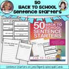 50 Back to School Sentence Starters