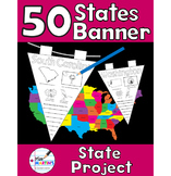 50 U.S. States Banner - A Creative States Report or Classr