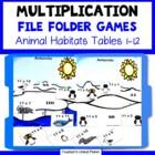Multiplication File Folder Games - Animal Habitats