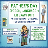 Father's Day Speech, Language, & Articulation Themed Unit