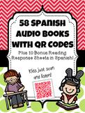 58 Spanish Audio Books with QR Codes {Plus 10 BONUS Readin