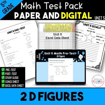 5th Common Core Unit 6 Math Test:  Geometry 2D Shapes