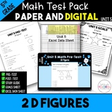 5th Common Core Unit 6 Math Test:  Geometry 2D Shapes