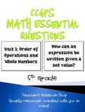 5th Grade CCGPS Math Essential Questions