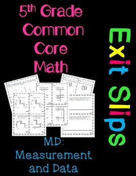 5th Grade Common Core Exit Slips Assessment 5.MD