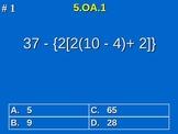 5th Grade Common Core Math 5 OA.1 Evaluate Numerical Expre