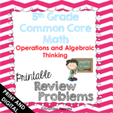 5th Grade Common Core Math Review Problems {Operations and
