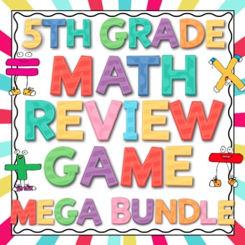 5th Grade Common Core Math Review Game Mega Bundle (All Domains and Standards)