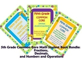 5th Grade Common Core Math Student Book Bundled Set: Fract
