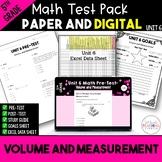 5th Grade Common Core Unit 7 Math Test: Volume and Measurement
