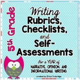 5th Grade Common Core Writing Rubrics & Checklists for the