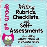 5th Grade Common Core Writing Rubrics & Checklists for the