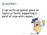 5th Grade Common Core Writing Standards for Posting