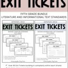 5th Grade ELA Common Core Reading Exit Tickets {Literature