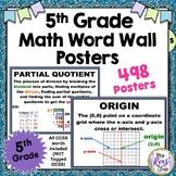 5th Grade Math Posters *Teach All Common Core Vocabulary*