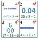 5th Grade Math Calendar - Decimals, Order of Operations, E