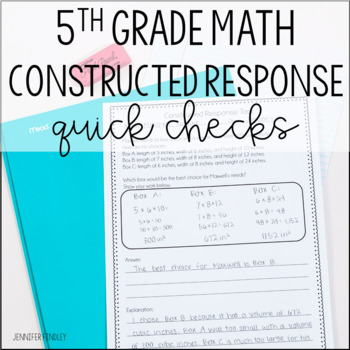 Math Constructed Response