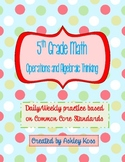 5th Grade Math Operations and Algebraic Thinking Common Co