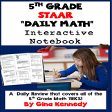 5th Grade Math STAAR TEKS Interactive Notebook Daily Math