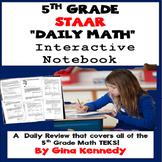 5th Grade STAAR Daily Math Interactive Notebook