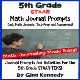 5th Grade Math STAAR Reproducible Journal Prompt Activitie