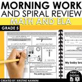 Morning Work Daily Review {5th Grade Math and ELA}