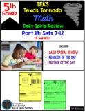 5th Grade NEW TEKS TX Tornado Spiral Review Part 1 (sets 1