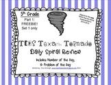 5th Grade NEW TEKS TX Tornado Spiral Review Pt 1(Set 1 onl
