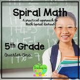 5th Grade Spiral Math Homework and Quizzes -- Quarter ONE
