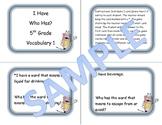 5th Grade Vocabulary Game 1