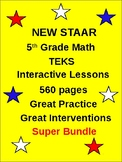 5th Grade New TEKS STAAR Math  2014-2015 (560 interactive pages)
