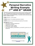 6-8th Gr Personal Narrative Writing Prompts STAAR and CC