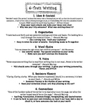 6 Traits of Writing Review/Overview
