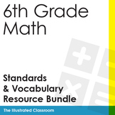I Can Statements & Word Wall Cards Bundle for 6th Grade Math