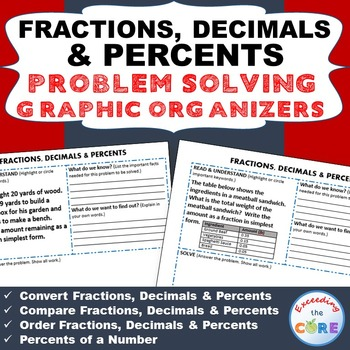 FRACTIONS, DECIMALS, and PERCENTS Word Problems with Graph
