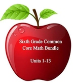 6th Grade Math:  Units 1 - 13 BUNDLED