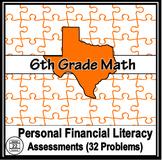 6th Grade Personal Financial Literacy Problems 2014-15 TEK