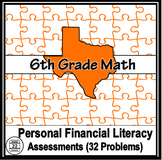 Personal Financial Literacy Problems for 6th Grade Math {T