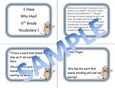 6th Grade Vocabulary Game 1