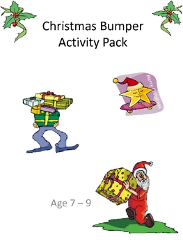 7-9 Christmas Bumper Activity Pack