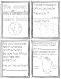 7 Continents Mini Book {Black and White}