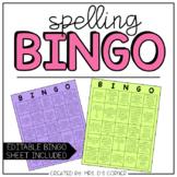 7 Spelling BINGO Sheets