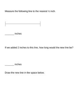 7 original math worksheets - Measurement