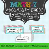7th Grade Math Vocabulary Word Wall BUNDLE (SETS 1-5)