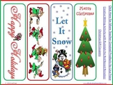 8 Colorful Christmas Bookmarks -Print & Cut
