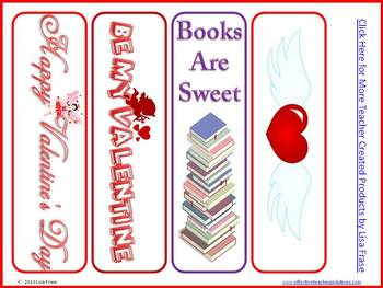 8 Colorful Valentine's Day Bookmarks