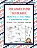 8th Grade Common Core Math {Team Task} ~ (8.EE.6) - Slope