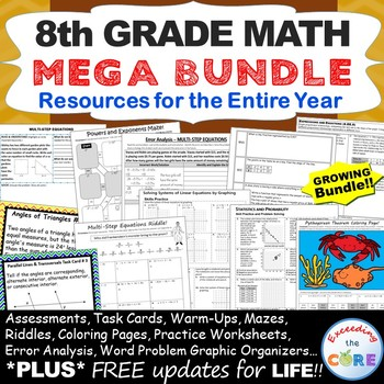 8th Grade Error Analysis BUNDLE