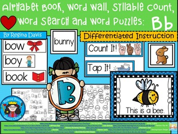 https://www.teacherspayteachers.com/Product/A-Alphabet-Book-Bb-Set-1-Word-Wall-Syllable-Count-Word-Search-Word-Puzzles-1907669